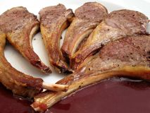 Broiled Lamb Chops Royalty Free Stock Photography