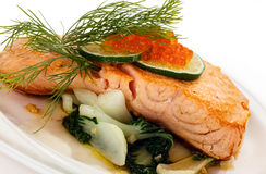 Broiled salmon Stock Photography