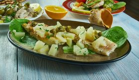 Broiled Snapper with pineapple Salsa stock photo