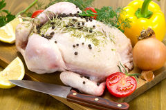 Broiler chicken and vegetables Royalty Free Stock Image