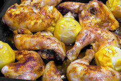 Broiler in oven Stock Photo