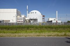 Brokdorf (Germany) - nuclear power plant Stock Image