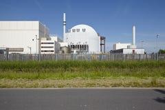 Brokdorf (Tyskland) - kärnkraftverk Fotografering för Bildbyråer