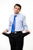 Broke business man Royalty Free Stock Image
