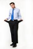 Broke business man stock photos