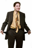 Broke business man Royalty Free Stock Photography
