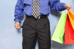 Broke businessman Royalty Free Stock Image