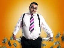 Broke Businessman Stock Photography