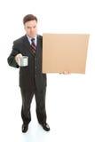 Broke Businessman Panhandling Stock Photography
