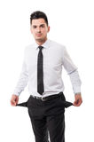 Broke businessman Stock Image