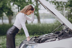 Broke the car Royalty Free Stock Images