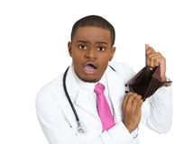 Broke doctor Royalty Free Stock Image