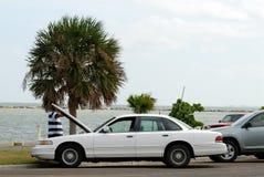 Broke down car in Texas USA Stock Photos