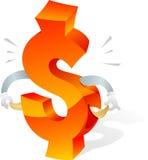Broke US dollar symbol Stock Photography