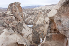 Broked caves near Goreme town Stock Image