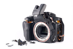 Broked DSLR camera Royalty Free Stock Images