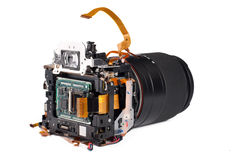 Broked DSLR Kamera Stockfoto