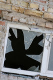Broked window Stock Photography