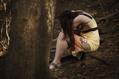 Broken. A Young Woman facing depression Royalty Free Stock Images