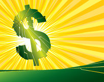 $ broken. Vector illustration of a broken dollar sign Royalty Free Stock Photography