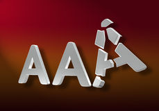 Broken AAA Stock Images