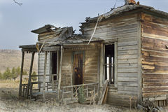 Broken Abandoned Wooden House Stock Photos