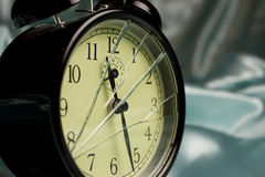 Broken alarm clock Royalty Free Stock Photos