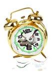 Broken alarm clock Stock Images