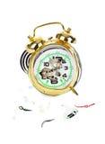 Broken alarm clock Stock Photography