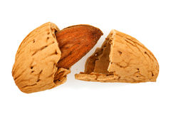 Broken almond Stock Photo