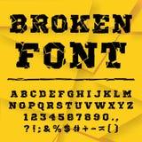 Broken alphabet. Full set Stock Image