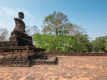 Broken ancient Buddha Stock Photos