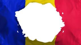 Broken Andorra flag. White background, 3d rendering vector illustration
