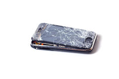 Broken Apple iphone Stock Photo