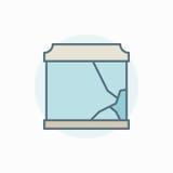 Broken aquarium colorful icon Royalty Free Stock Photos