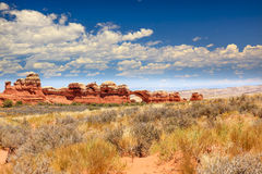 Broken Arch Rock Canyon Arches National Park Moab U Royalty Free Stock Images