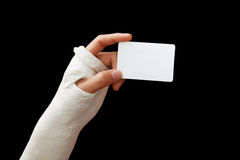 Broken arm - 02 Stock Image