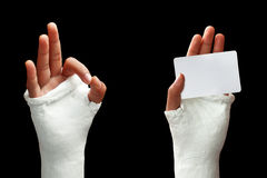 Broken arm - 03 Royalty Free Stock Photos