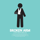 Broken Arm Graphic Symbol Stock Images