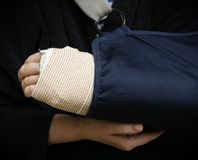 Broken arm Royalty Free Stock Images