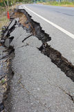 Broken asphalt. Royalty Free Stock Images