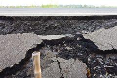 Broken asphalt. Stock Image
