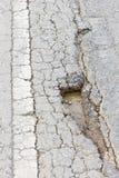 Broken asphalt Royalty Free Stock Image