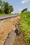 Broken asphalt collapsed and fallen Stock Photos