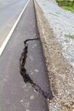 Broken asphalt. Stock Images