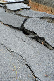 Broken asphalt road Royalty Free Stock Photography