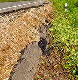 Broken asphalt road Royalty Free Stock Photography