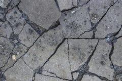 Broken asphalt after working hydraulic hammer Royalty Free Stock Photo