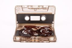 Broken audio cassette Stock Photography