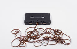Broken Audio Music Cassette Stock Image